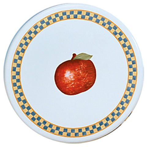 "8"" Enamel on Steel Burner Cover, Gear Apple"