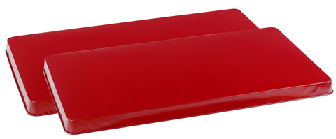 Calypso Basics by Reston Lloyd, Rectangular Tin Burner Cover, Red