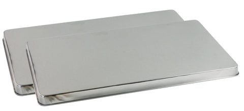 Calypso Basics by Reston Lloyd, Rectangular Tin Burner Cover, Stainless Steel