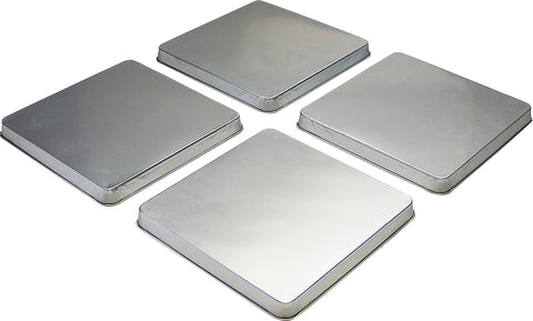 Calypso Basics by Reston Lloyd, Square Tin Burner Cover, Stainless Steel