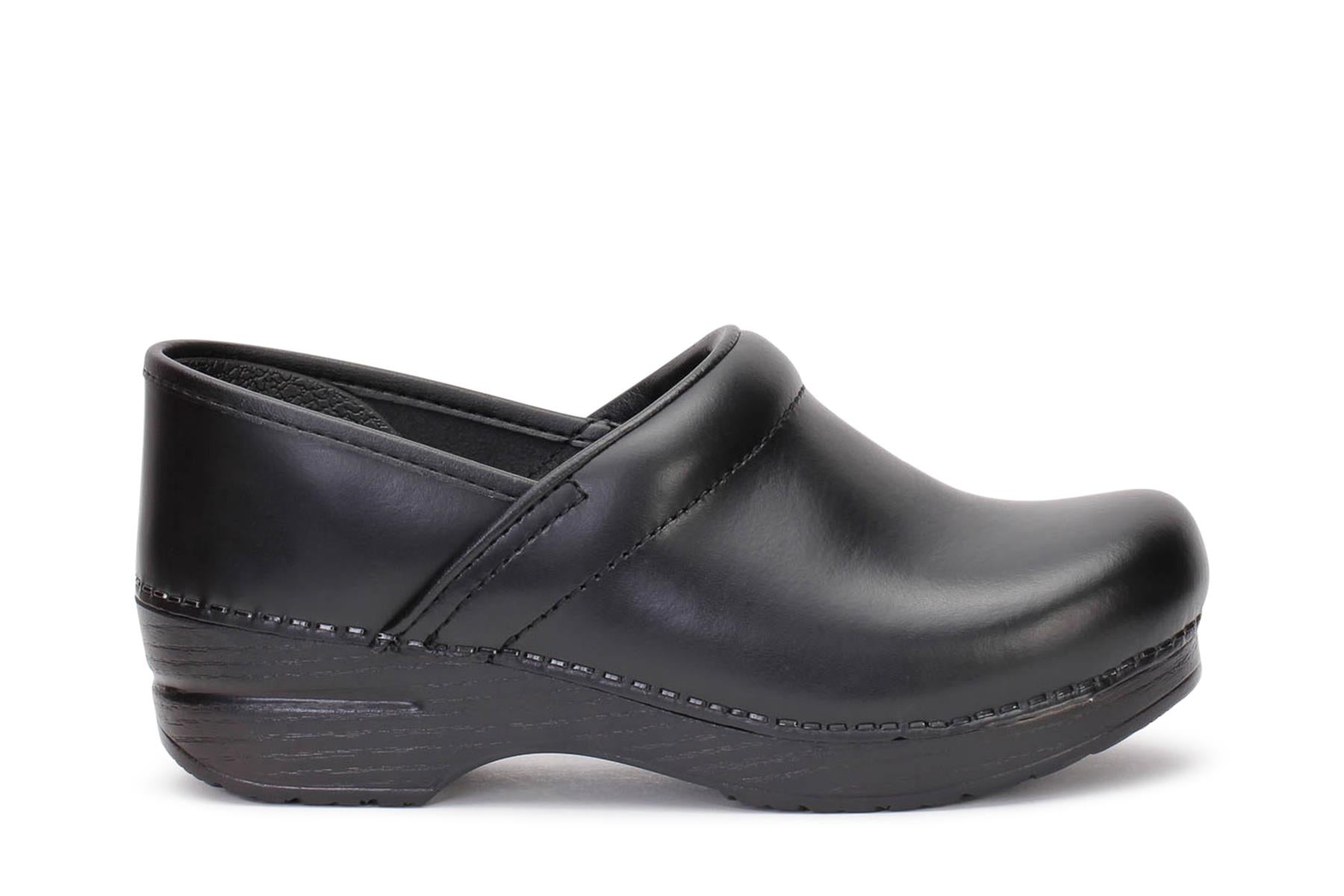 Dansko Women's Clog Shoes Wide Pro Cabrio Black Leather 899020202