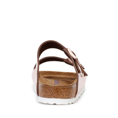 Birkenstock Women's Slide Sandals Arizona BS Metallic Copper 952091 Regular Fit