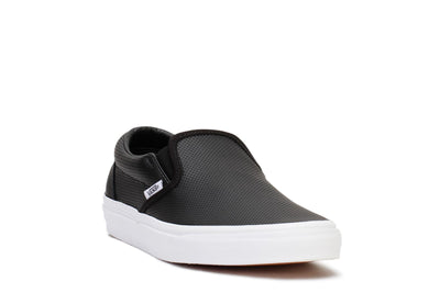 Vans Mens Casual Sneakers Classic Slip-on Black Perf Leather VN000XG8DJ6