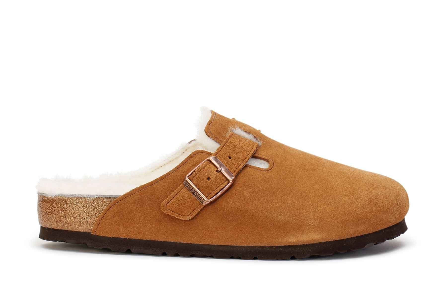 Birkenstock Boston Fur Clog Suede Leather