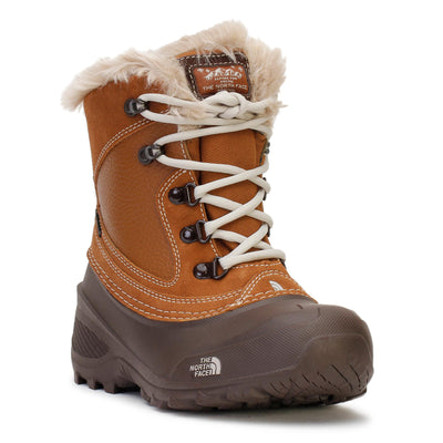 the-north-face-kids-shellista-extreme-winter-boots-daschshund-brown-moonlight-ivory-3/4shot