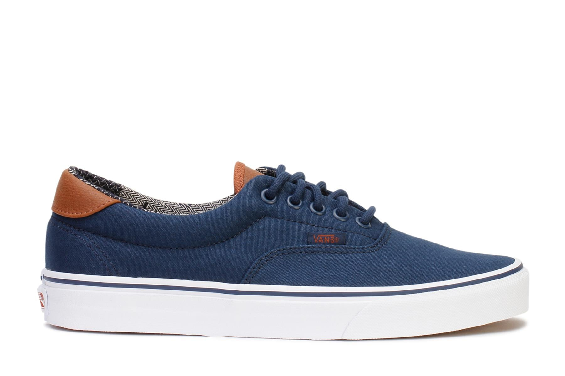 Vans Mens Casual Sneakers Era 59 Dress Blues Material Mix VN0A38FSMVE