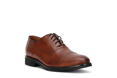johnston-murphy-mens-oxford-lace-up-clarson-shoes-oak-leather-20-3916-3/4shot
