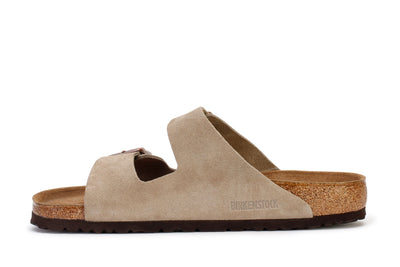 Birkenstock Women's Slide Sandals Arizona BS Taupe Suede 951303