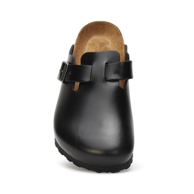 birkenstock-unisex-clog-shoes-boston-soft-footbed-amalfi-black-leather-0059831-front