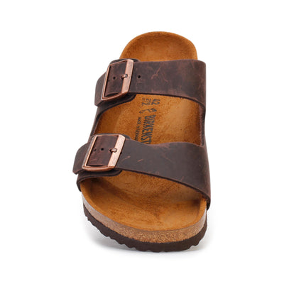 Birkenstock Men's Slide Sandals Arizona Oiled Leather Habana 52531