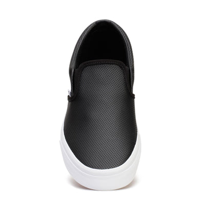 vans-mens-casual-sneakers-classic-slip-on-black-perf-leather-vn000xg8dj6-front
