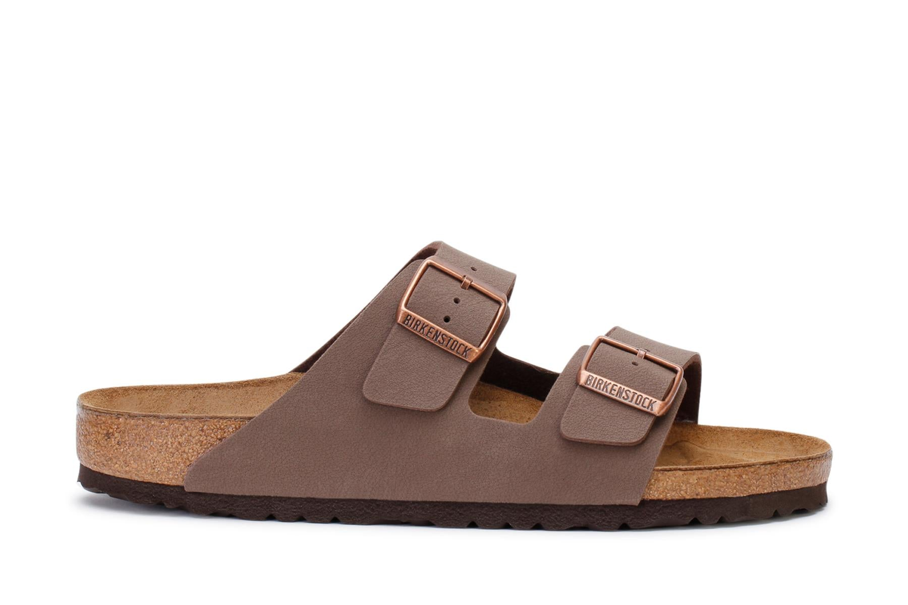 Birkenstock Men's Slide Sandals Arizona BS Mocca Birko-flor Nubuck 0151181