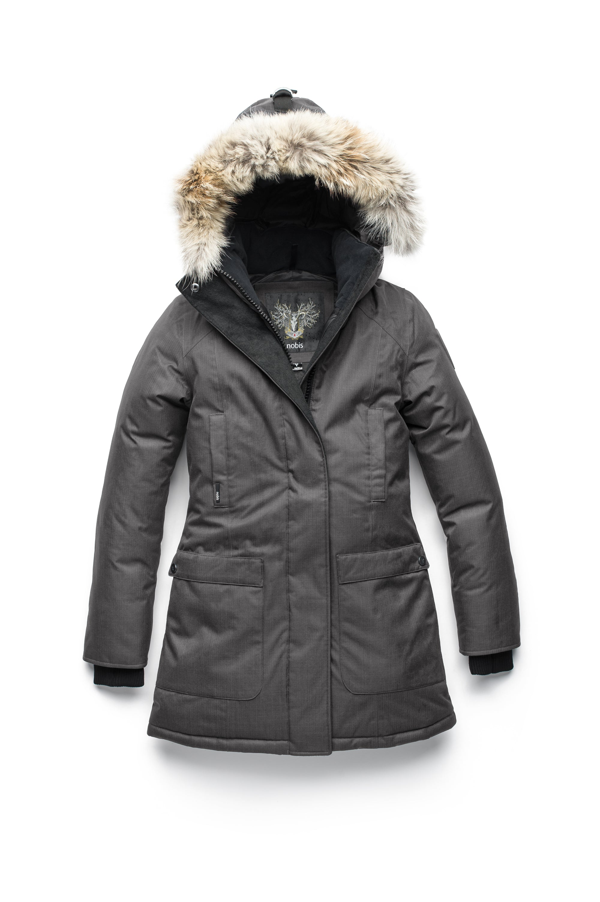 nobis-womens-carla-ladies-parka-jackets-crosshatch-steel-grey-main