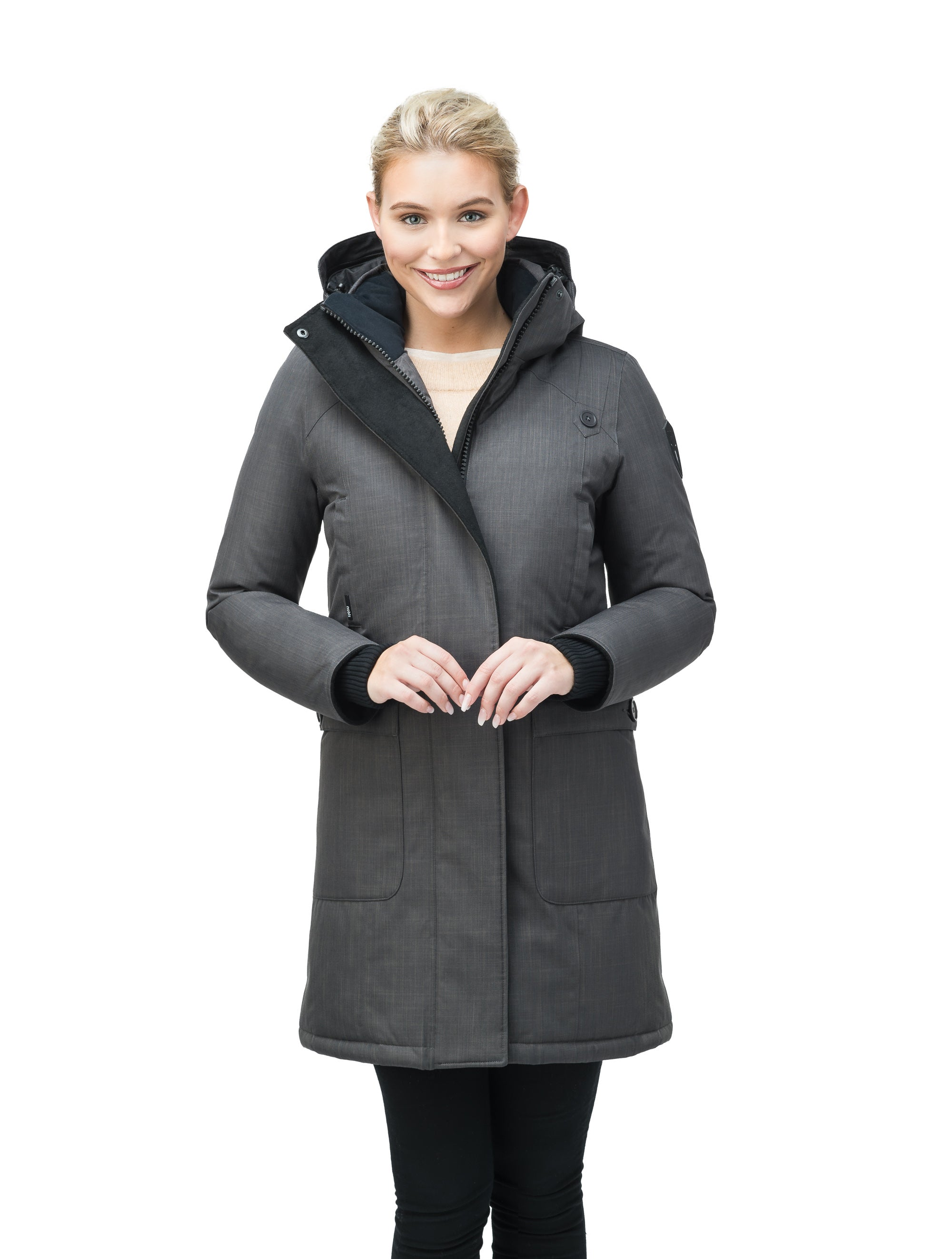 nobis-womens-merideth-ladies-parka-jackets-crosshatch-steel-grey-main