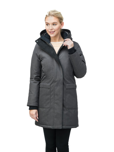 nobis-womens-merideth-ladies-parka-jackets-crosshatch-steel-grey-front