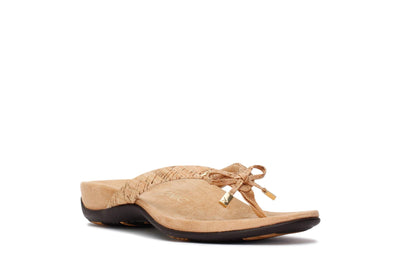 vionic-womens-bella-ii-toe-post-sandals-gold-cork-10000435-3/4shot