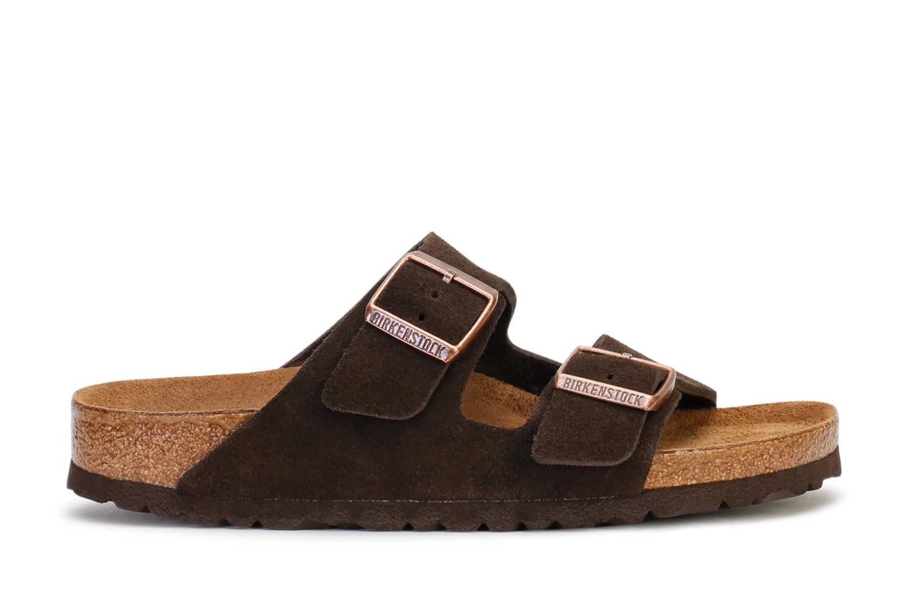 Birkenstock Men's Slide Sandals Arizona Soft Footbed Mocha Suede 951311