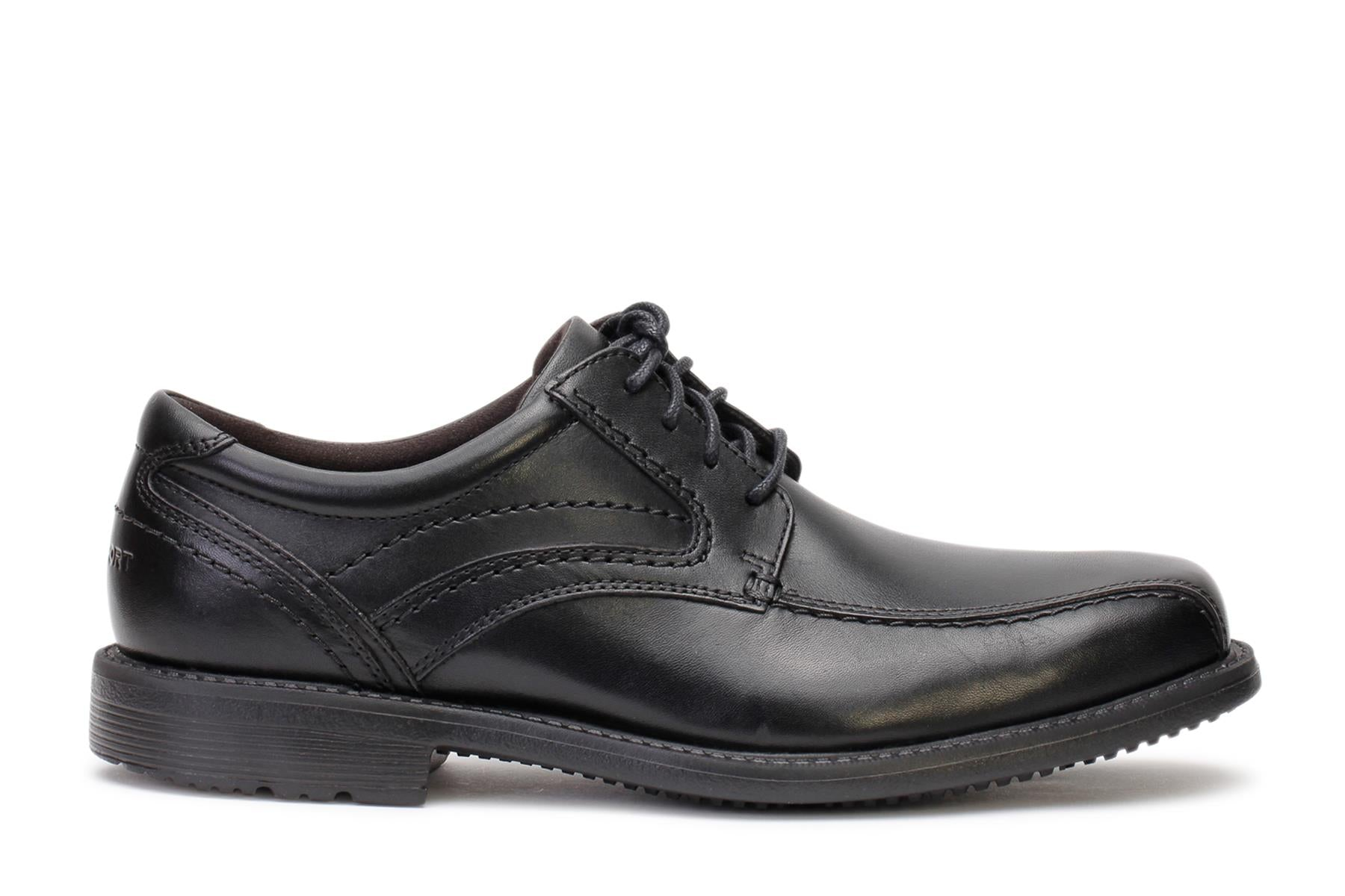 Rockport Men's Oxford Shoes Classic Tradition Bike Toe Black V80544