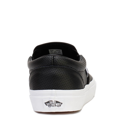 vans-mens-casual-sneakers-classic-slip-on-black-perf-leather-vn000xg8dj6-sole