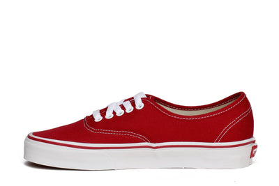 Vans Unisex Authentic Skate Sneakers Red Canvas
