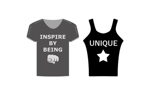 Create your own unique personalised clothing and t-shirts. Inspire people with your own t-shirt designs