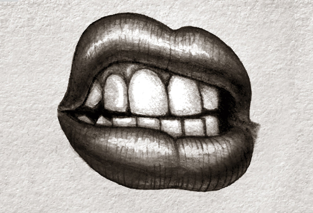 Lips t-shirt design with teeth showing. Click here to see all swagger t-shirt designs which can be used for a personalised t-shirt