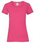 Front of a plain Fuchsia t-shirt that you can personalise with a custom design