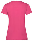 Back of a plain Fuchsia t-shirt that you can personalise with a custom design