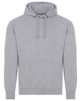 Front of adults plain grey hoodie which you can add your own design to against a plain white background