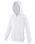 Front of kid's white hoodie that you can personalise with custom design