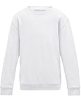 Plain white, kids sweatshirt you can personalise with custom print