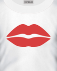 Red Lips T-Shirt Design On a White T-Shirt