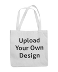 "White canvas bag that you can personalise with the words ""upload your own design"""