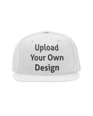 "A cap that you can personalise showing an ""Upload your own design"" text"