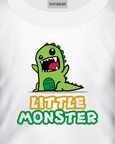Kid's white t-shirt with a Little Monster t-shirt design