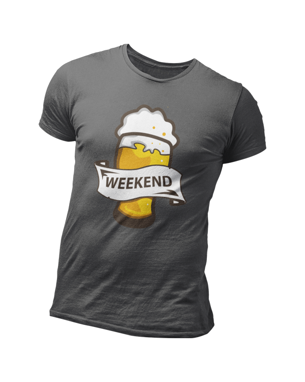 Personalised Black t-shirt with a pint of beer t-shirt design