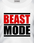 Beast Mode Gym T-Shirt Design On a White T-Shirt