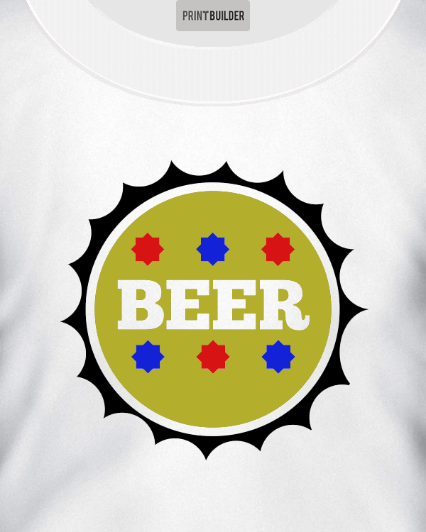 Beer Top T-Shirt Design On a White T-Shirt