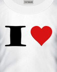White t-shirt with a I Heart t-shirt design