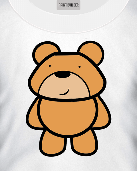Kids Teddy Bear T-Shirt Design On a White T-Shirt