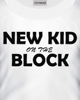 New Kid On The Block T-Shirt Design On a White T-Shirt