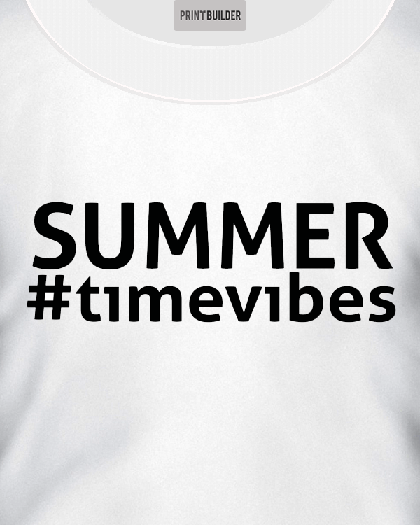 Summertime T-Shirt Design On a White T-Shirt