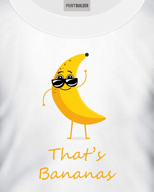That's Bananas T-shirt Design Showing On a White T-shirt