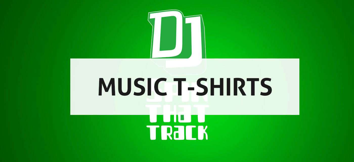 Personalised t-shirt graphic with title 'Music T-shirts'