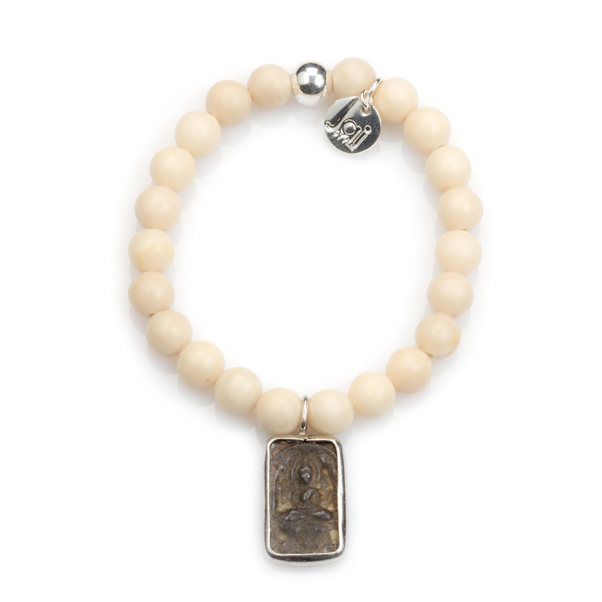 Riverstone Bracelet with Authentic Thai Amulet