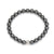 Hematite Bracelet with Sterling Silver Bead, Men's