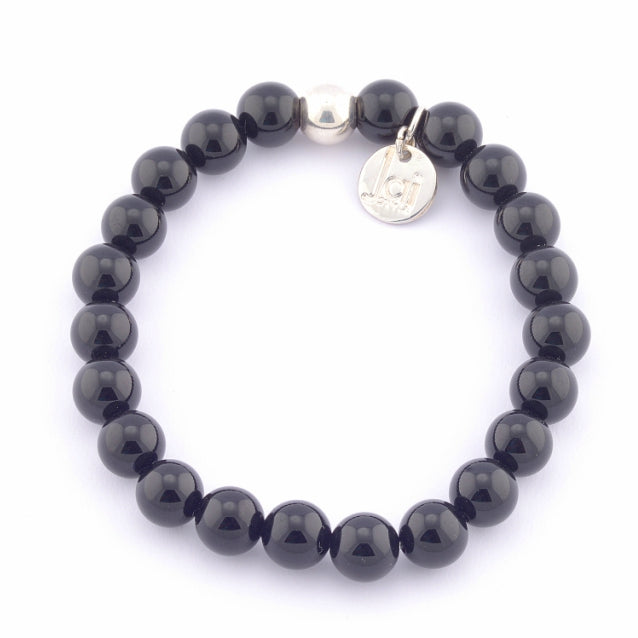onyx men black steel strong image johnny bracelets bracelet for en