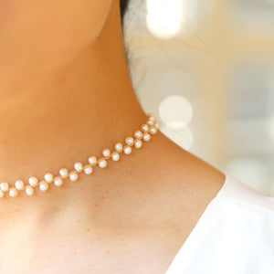 Freshwater Pearl Choker with 14K Gold