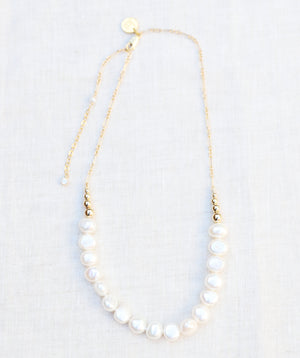 Freshwater Pearl and Gold Necklace