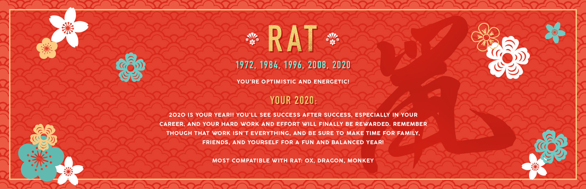 Rat Lunar New Year Collection Banner Image